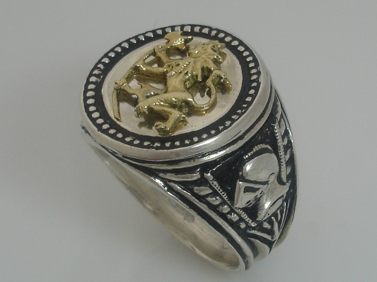 Norse Lion ring sterling silver.925
