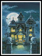 Haunted House #11761-PFLD cross stitch chart Artecy Cross Stitch Chart - $14.40