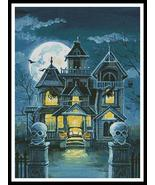 Haunted House #11761-PFLD cross stitch chart Artecy Cross Stitch Chart - $14.40