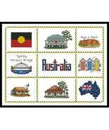 Australian Sampler cross stitch chart Artecy Cross Stitch Chart - $7.20