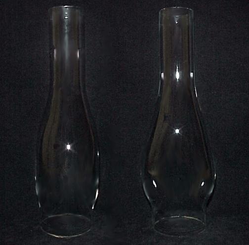 Clear Glass 2.5 X 10 Kerosene Oil Lamp Chimney Oval Duplex New