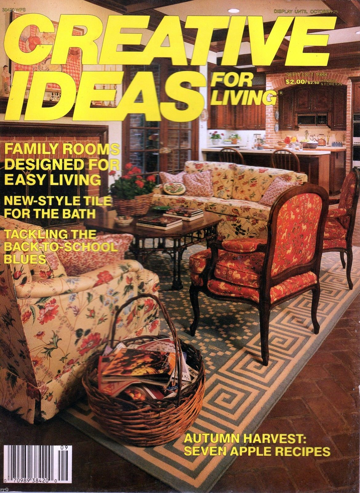 Primary image for Creative Ideas for Living Magazine -Sept/Oct 1988 Family Rooms