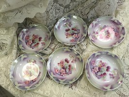 "6 Iridescent Berry Bowls Apprx. 5 1/4"" Wide - $47.41"
