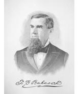 FRANCIS BABCOCK New York Banker - 1895 Portrait Antique Print - $9.44