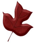 Autumn Crimson Leaf-Digital Download-ClipArt-ArtClip-Digital Art - $4.00