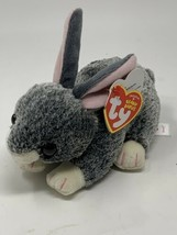 "Ty Beanie Babies Plush SMOKEY Grey Bunny Rabbit 6 1/2"" Soft Stuffed Anim... - $10.88"