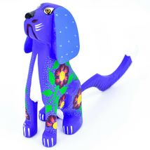 "Handmade Alebrije Oaxacan Copal Wood Carving Folk Art Hound Dog Puppy 5"" Figure image 5"