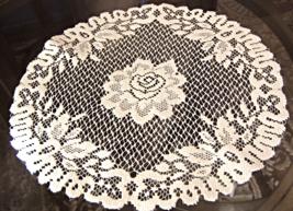 """Vintage Doily -  14"""" Lace Doily - Light Ivory -  #4913 - $6.99"""