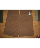 Ladies JACLYN SMITH Trouser Pant Brown Light Plaid Dress Work Stretch Sz... - $9.99