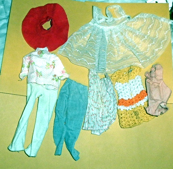 Mix Lot Of  Doll  Clothes