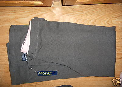 Women NICK & SARAH SPORT STRETCH PANTS Charcoal Gray Large L Soft Jogging NW