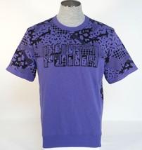 Puma Signature Short Sleeve Purple Crew Neck Sweatshirt Men's NWT - $44.99