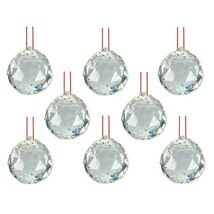 """LOT of 8 FENG SHUI HANGING CRYSTAL BALL 1.25"""" 30mm Sphere Prism Healing ... - $16.88"""