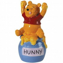Walt Disney Winnie the Pooh's Honey Ceramic Salt & Pepper Shakers, NEW U... - $27.08