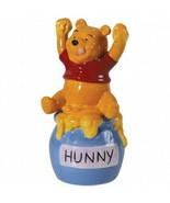 Walt Disney Winnie the Pooh's Honey Ceramic Salt & Pepper Shakers, NEW U... - $29.02