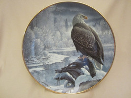 WINTER IN THE VALLEY collector plate BALD EAGLE John Pitcher HAMILTON Se... - $39.99