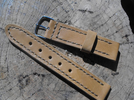 Leather watch band leather watch strap 22mm watch strap panerai strap leather st - $32.11