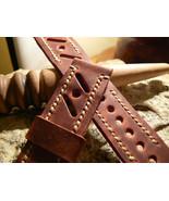 Leather  Watch strap Racing Style  Handmade band Strap watch Panerai str... - $36.12