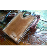 Mens Custom Leather Wallet, Slim Leather Wallet, Minimalist Wallet, Simp... - $29.12