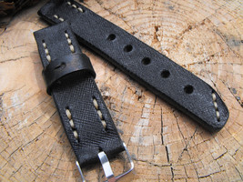 22mm watch strap leather watch strap rustic style - $27.15