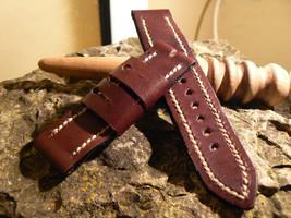 Leather  Watch strap , Handmade band, Strap watch, Panerai strap, Leather strap, - $28.12