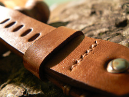 Watch strap, leather watch strap, handmade leather strap, watch band, le... - $39.12