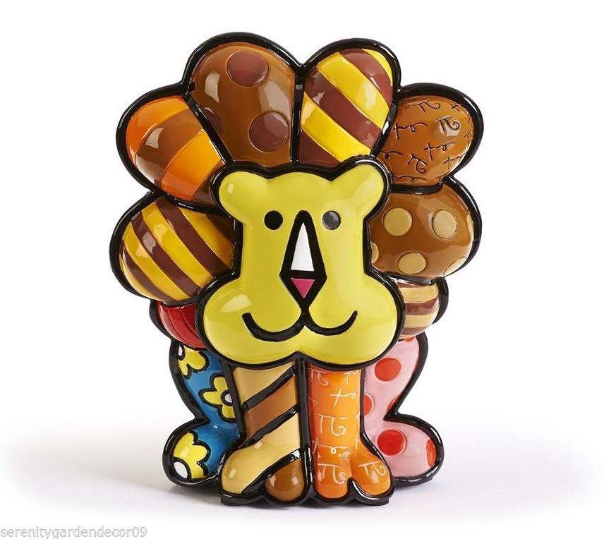 Romero Britto Lion Figurine #334006 NEW
