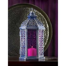 6 Enchanted Lantern Antique Pewter Finish  Candleholder Wedding Centerpi... - $87.12