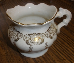 Homer Laughlin creammer with gold trim - $20.00