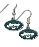 NFL Officially Licensed Team Logo Dangle Earrings (New York Jets) [Misc.] - $12.86
