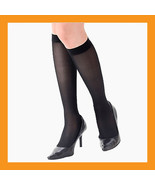 140D black support stockings compression hose knee high varicose veins g... - $21.00