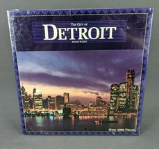 The City Of Detroit Puzzle 1000 Pcs Vintage Great American Puzzle Factory 1996 - $38.65