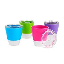 Munchkin Splash Toddler Cups with Training Lids, 7 Ounce, 4 Pack - $10.15