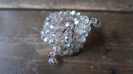 Vintage 3 Strand Rhinestone Iridescent Bead Wrap Bracelet - $19.79