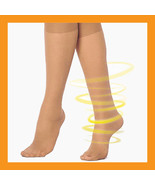 140D support stockings compression hose knee high varicose gradient 15~2... - $21.00