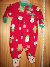 Carter Holiday Baby Clothes Red Newborn Christmas Reindeer Foot Playsuit Sleeper - $14.24
