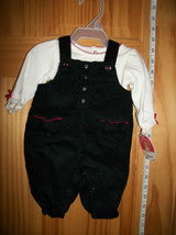 Carter Baby Clothes Newborn White Creeper Outfit Girl Black Overall Pant... - $16.14