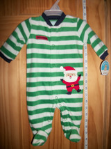 Carter Baby Clothes New Newborn Footed Playsuit Santa Christmas Holiday Sleeper - $16.14