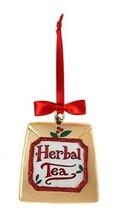 KURT S. ADLER KSA CAFE NOBLE GEMS GLASS TEA BAG HERBAL TEA CHRISTMAS ORN... - $12.88