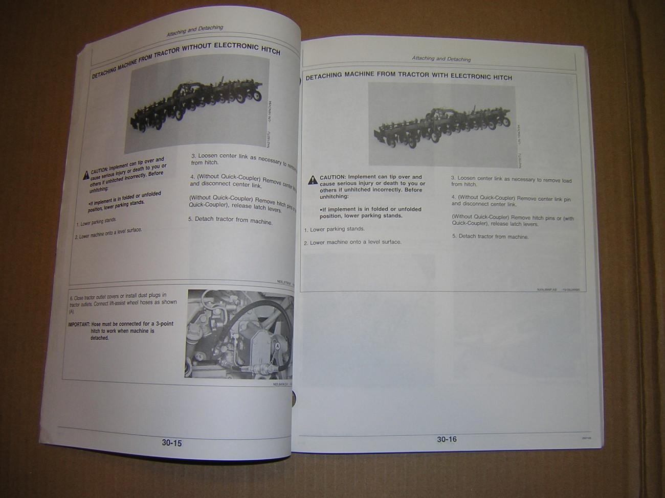 John Deere 886 Series Rear Mounted Row-Crop Cultivator Operator's Manual