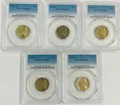 5   1943 P Jefferson Nickel Wartime PCGS Sample   5 Coins  Item #111 - $99.75