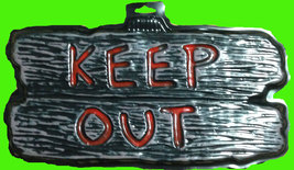 Gothic Warning Sign--KEEP OUT--Door Man Cave Teen Room Halloween Decorat... - $3.93