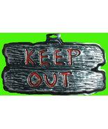 Gothic Warning Sign--KEEP OUT--Door Man Cave Teen Room Halloween Decorat... - $3.93