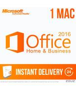 Office Home and Business 2016 for Mac - 60Sec Digital Delivery - MACOFFI... - $49.99
