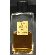 Vintage Chanel No. 5 Eau de Cologne, 2 Fl oz, about 1/2 full, Splash On - $20.00