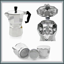 Italian Moka Espresso 1 Cup to 12 Cup Sizes Stove Top Coffee Percolator Brew Pot image 3