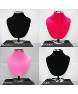 """11.5"""" Necklace Bust Jewelry Hard Display Stand Black Velvet - $16.99"""
