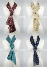 "70"" Polka Dot Print Wrap Spring Fresh Silk Scarf Multi Color Soft Cute Fashion - $5.99"