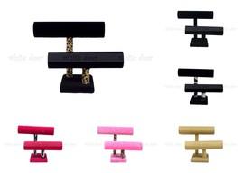 "9"" 2 Tier Jewelry Hard Display Stand Holder Bracelet Chain Bangle Watch ... - $18.99"