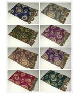 Pashmina Silk Circle Design Super Soft Fashion Scarf Shawl Wrap Multi Color - $11.31